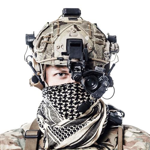 imagem de soldado bem equipado